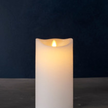 LED white candle D10cm h20cm