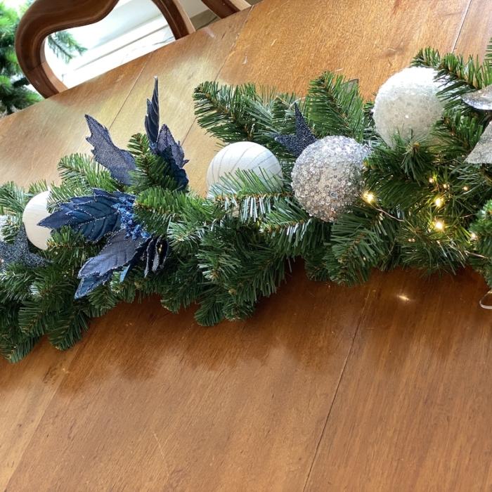 decorated alberta garland