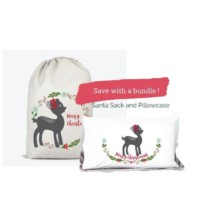 fawn santa sack and pillowcase bundle and save