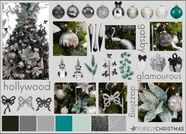 black green silver christmas decorations