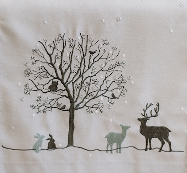 christmas scandi cushion cover